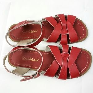 Salt Water Sandals By Hoy Red Size Youth 6 Women 8